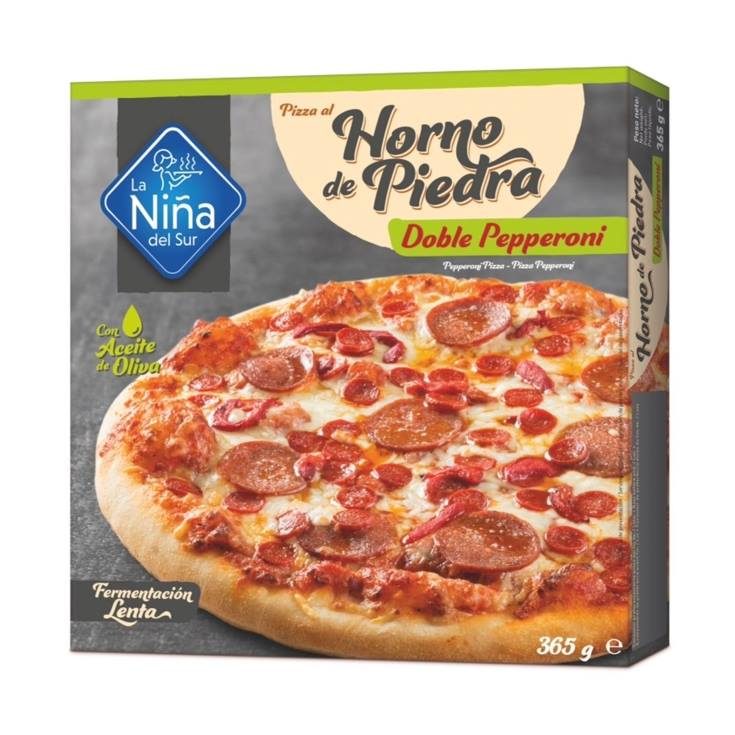 pizza horno piedra pepperoni, 365g