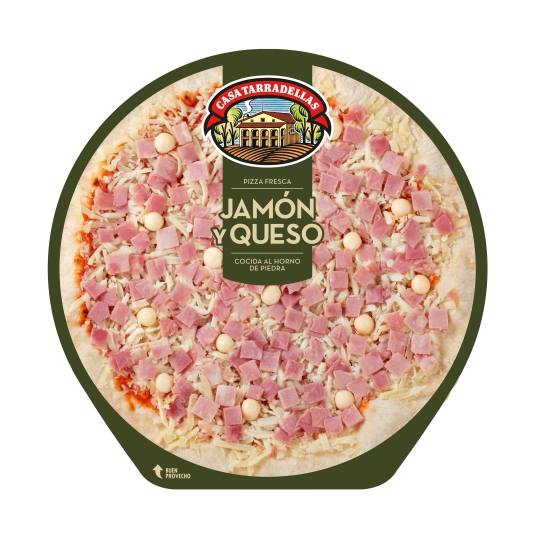 pizza jamón y queso, 405g
