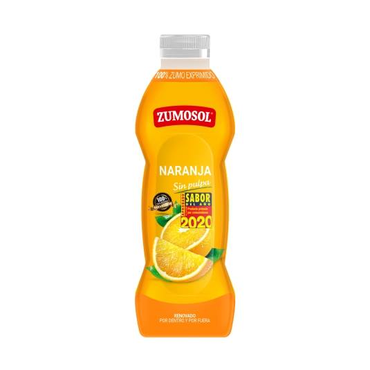 zumo naranja sin pulpa, 750ml