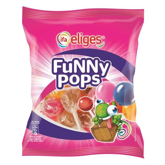 caramelo palo funny pops, 12ud