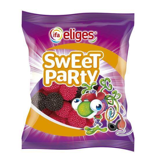 caramelos de goma sweet party moras, 150g