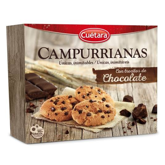 galletas campurrianas trocitos chocolate,450g