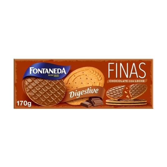 digestive finas chocolate con leche, 170g
