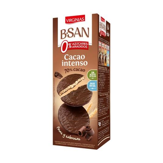 galletas cacao intenso 0% b-san, 120g