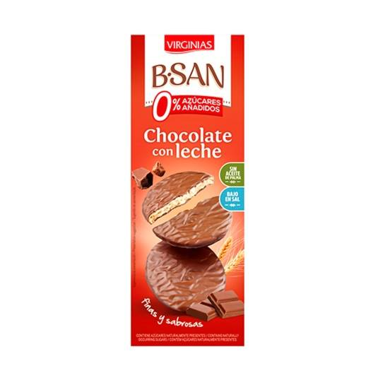 galletas chocolate con leche 0% b-san, 120g