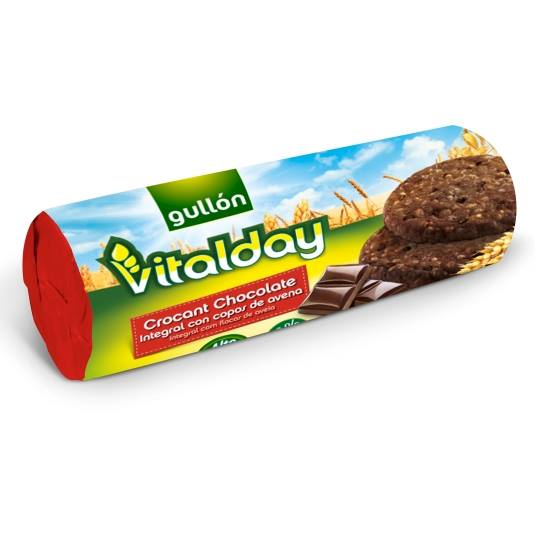 galletas vitalday crocant chocolate, 280g