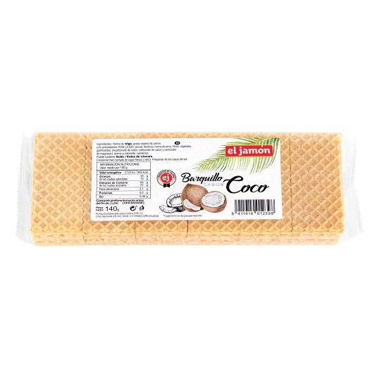 barquillos coco, 160g