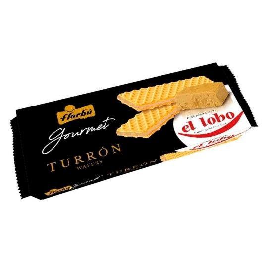 wafers gourmet turrón, 135g