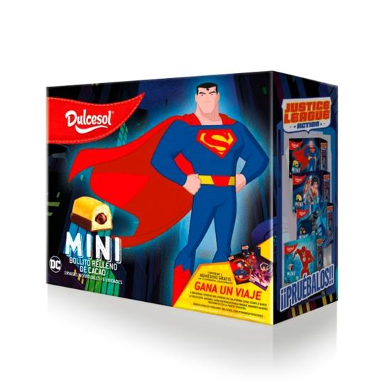 bollitos choco mini superman, 132g