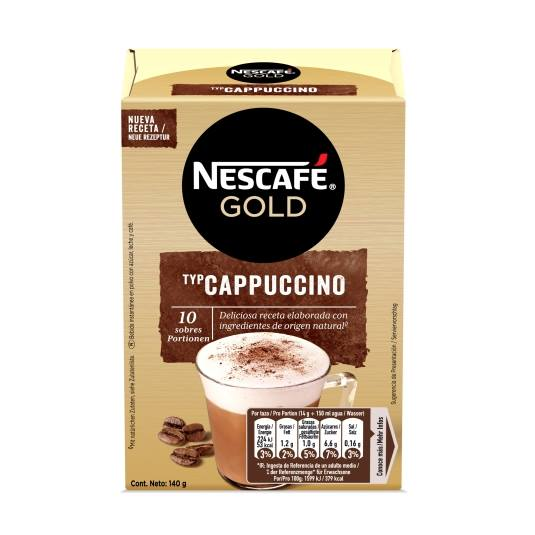 cappuchino natural 10 sobres, 140g