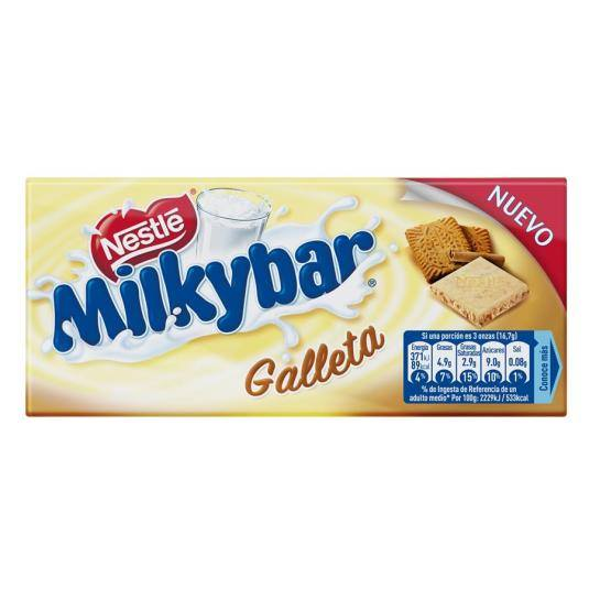 chocolate blanco galleta, 100g