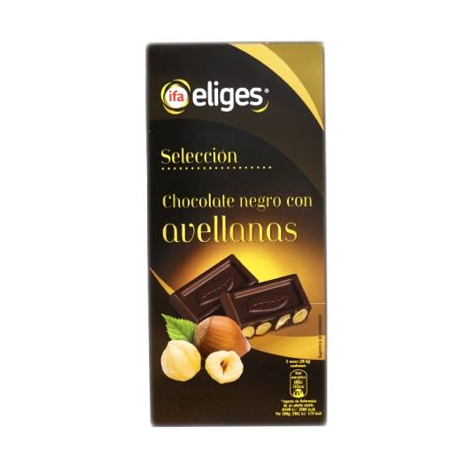 chocolate negro con avellanas, 200g
