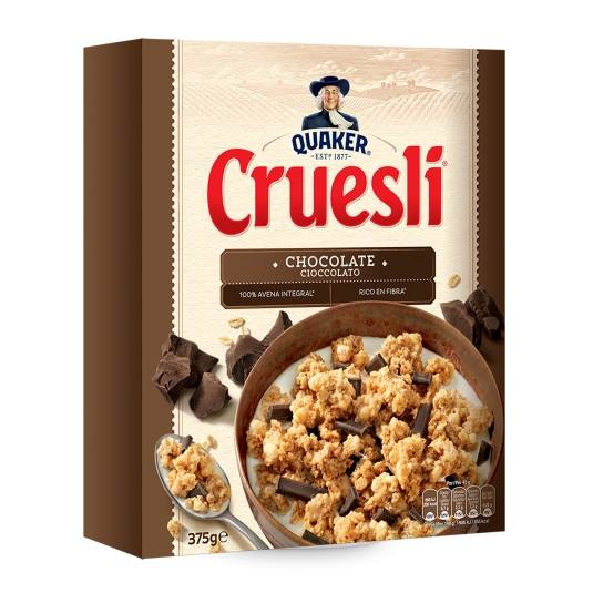 cereales cruesli con chocolate, 375g