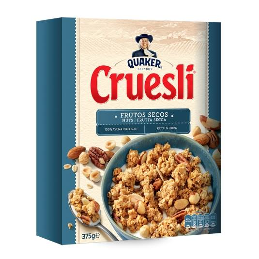 cereales cruesli con frutos secos, 375g