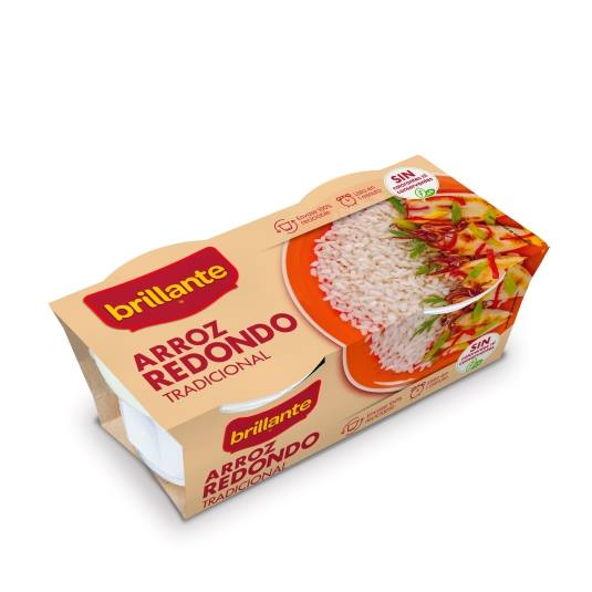 arroz redondo vasitos, pack-2