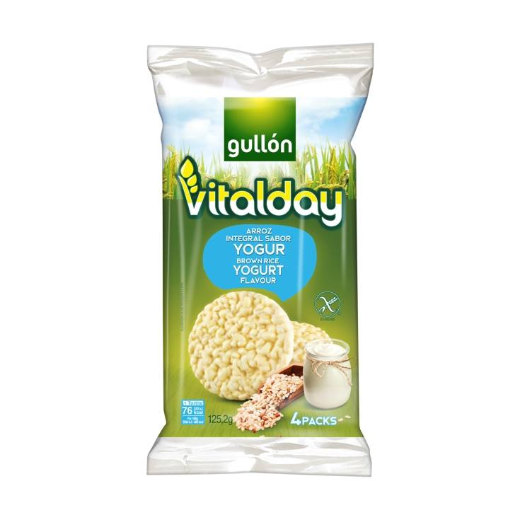 tortita arroz yogurt vitalday, 125g
