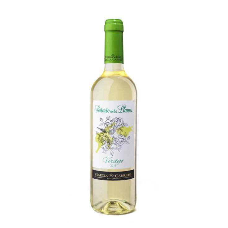 vino blanco verdejo, 750ml