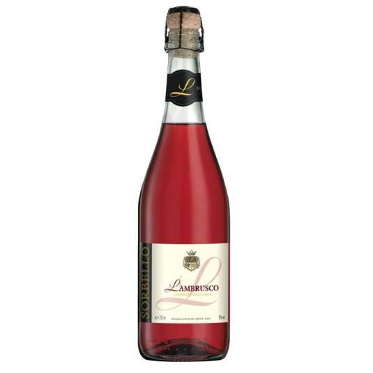 vino lambrusco rosado, 750ml