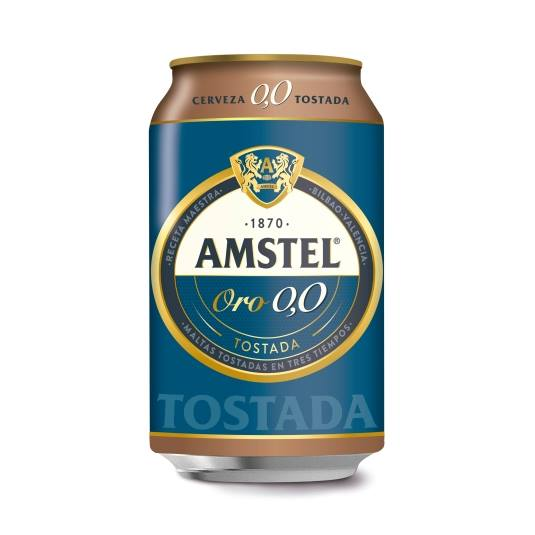 cerveza 0,0 sin alcohol tostada lata, 330ml