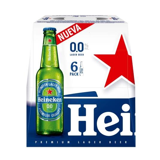 cerveza 0,0 sin alcohol botellin 250ml, pk-6