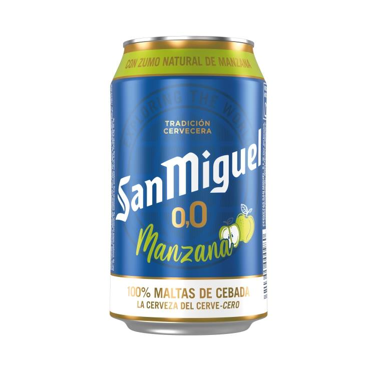cerveza sin alcohol 0,0 manzana lata, 330ml