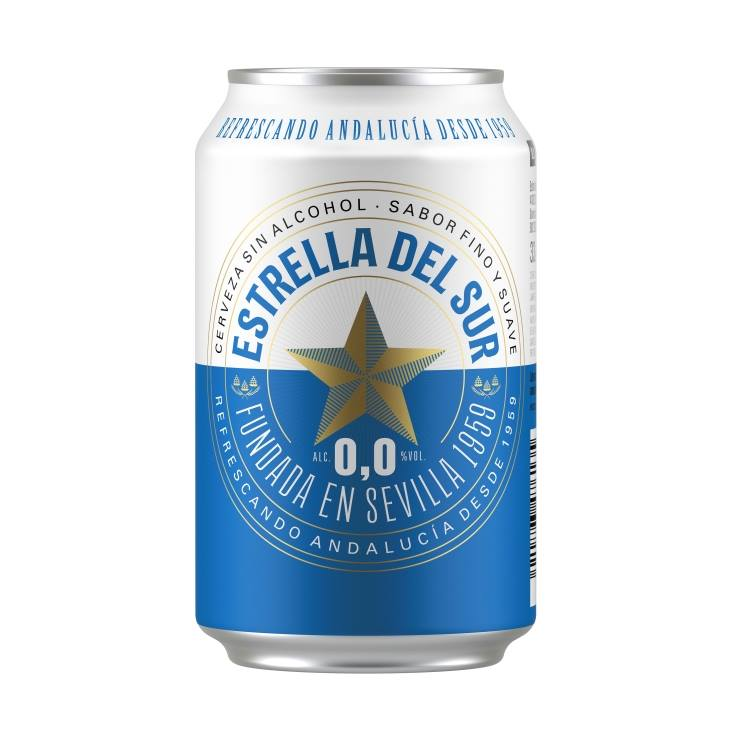 cerveza sin alcohol 0´0 lata, 330ml