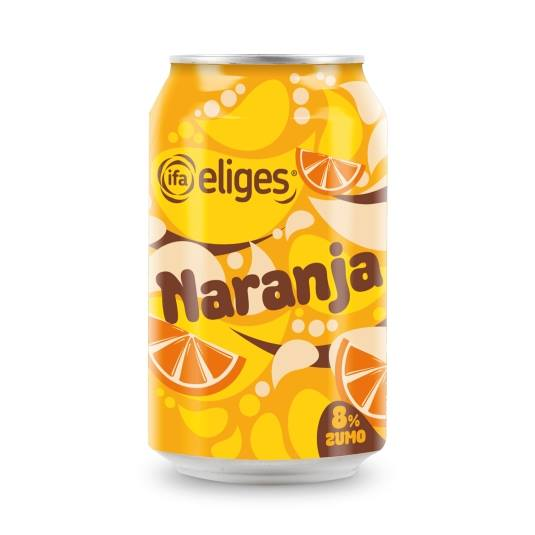refresco naranja lata, 330ml