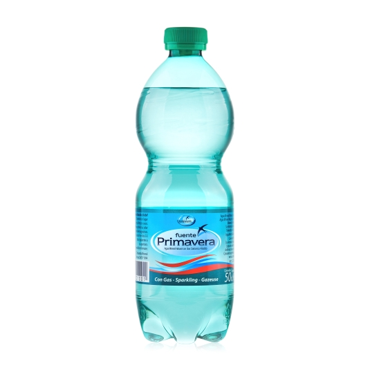 agua mineral con gas, 500ml