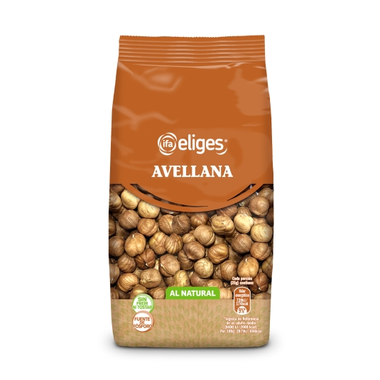 avellana natural c/piel s/casc. cruda, 200g