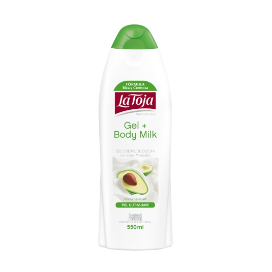 gel de ducha +body milk aguacate, 550ml