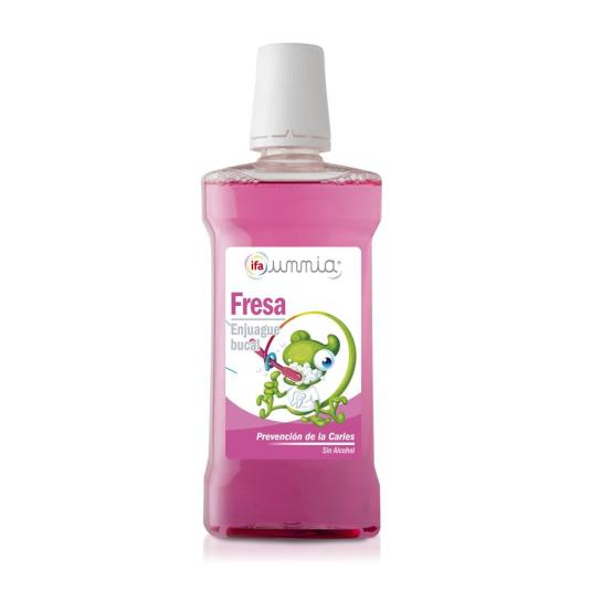 enjuague bucal infantil fresa, 500ml